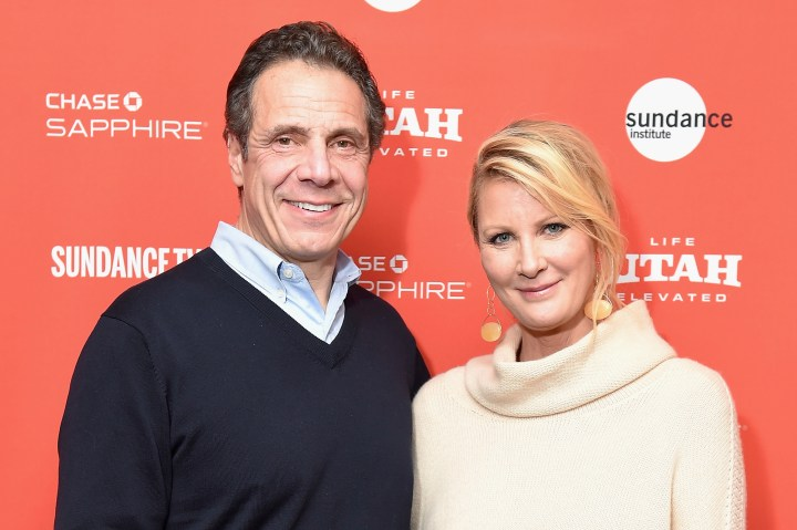 Gov. Andrew Cuomo and then-girlfriend Sandra Lee in 2018.