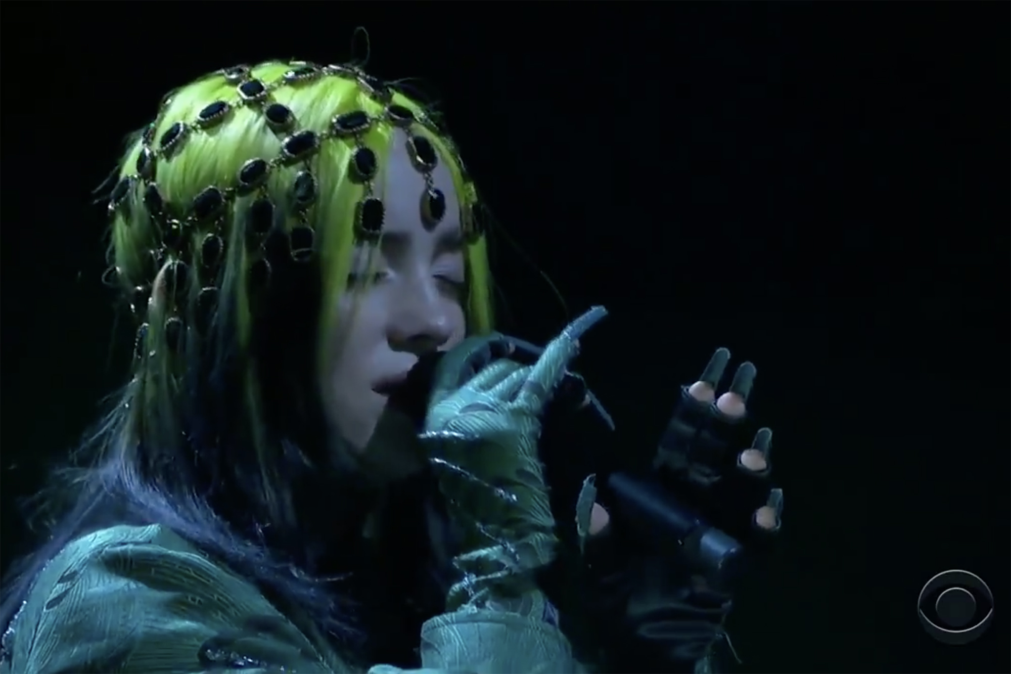 https nypost com 2021 03 14 billie eilish performs at the 2021 grammys