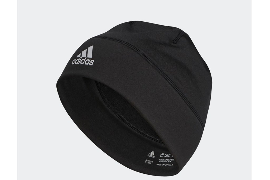 A black beanie for running from Adidas