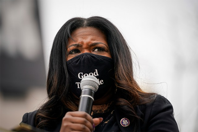"""Missouri rep. Cori Bush has come under fire for using the term """" birthing people"""" during a speech on May 6,2021"""