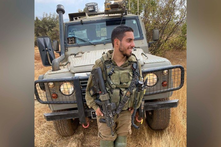 Staff Sgt. Omer Tabib was killed when an anti-tank guided missile struck his jeep north of the Gaza Strip on May 12, 2021.