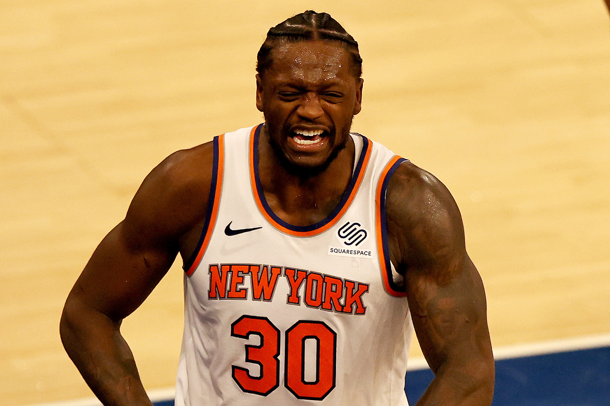 NBA playoffs: Knicks' Julius Randle will wear hair in braids