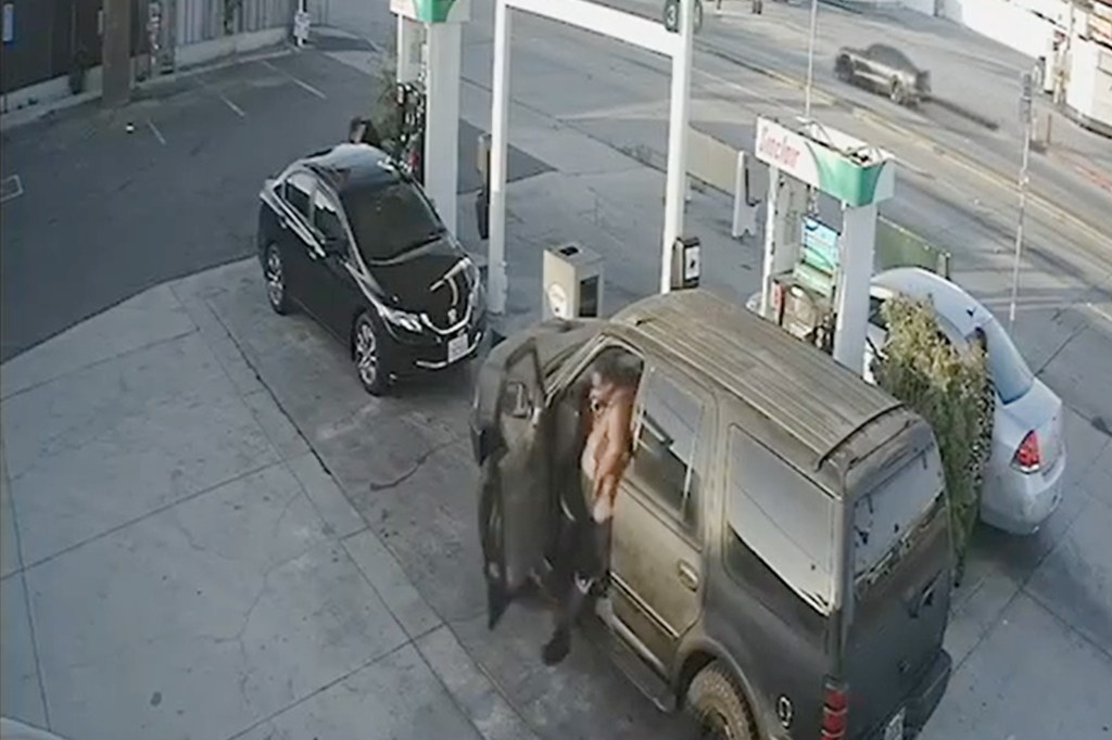 WATCH: Woman pumping gas severely beaten in 'random,' caught-on-video attack