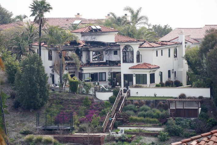 *EXCLUSIVE* Camille Grammer's house is still in ruins after the Malibu fires
