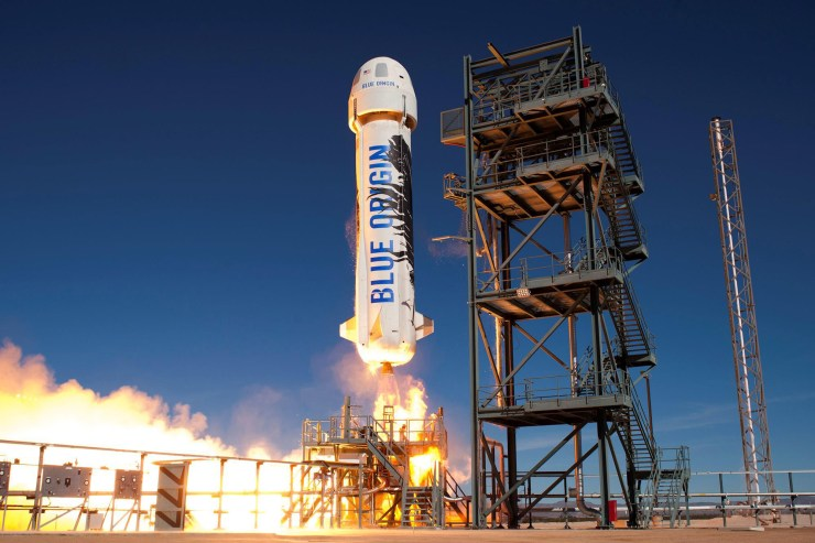 The Blue Origin New Shepard reusable rocket