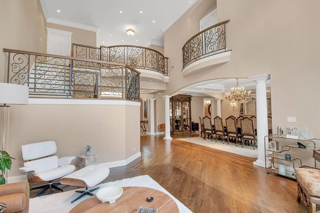 A view of the open floor plan.