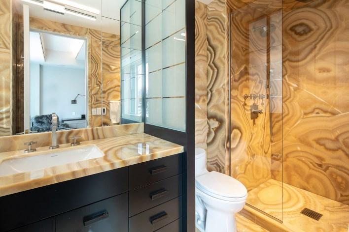 A bathroom inside 91 CPW.