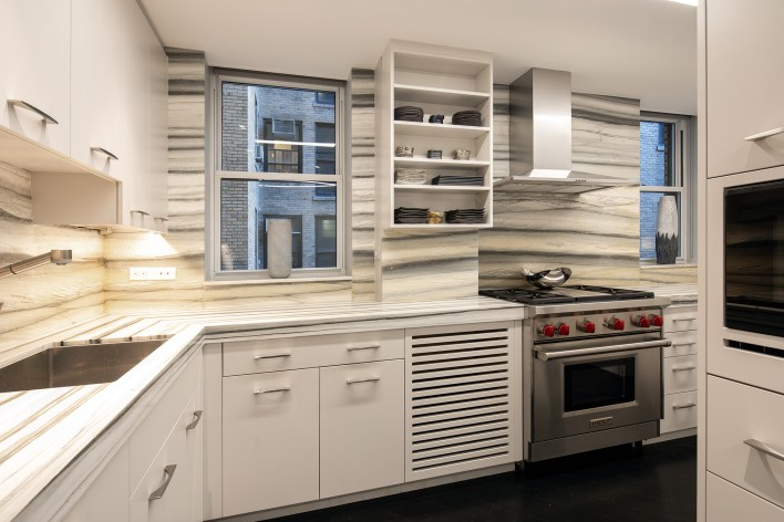 The kitchen inside 91 CPW.