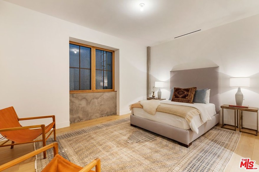 One of the seven bedrooms is pictured.