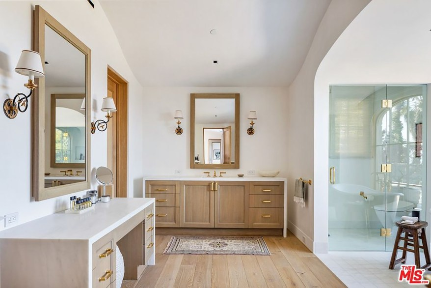 One of the home's 10½ bathrooms is pictured.