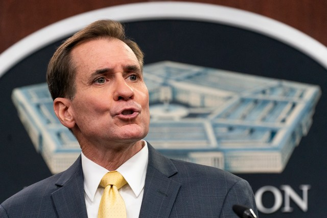 Pentagon spokesman John Kirby slams Politico for leaking documents that hinted the the US had intel that there would be an attack on Kabul's airport on August 26, 2021.