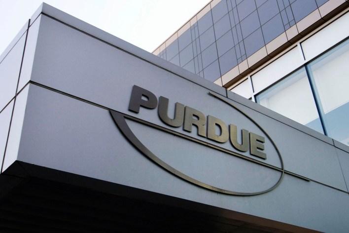 A Purdue logo in gold