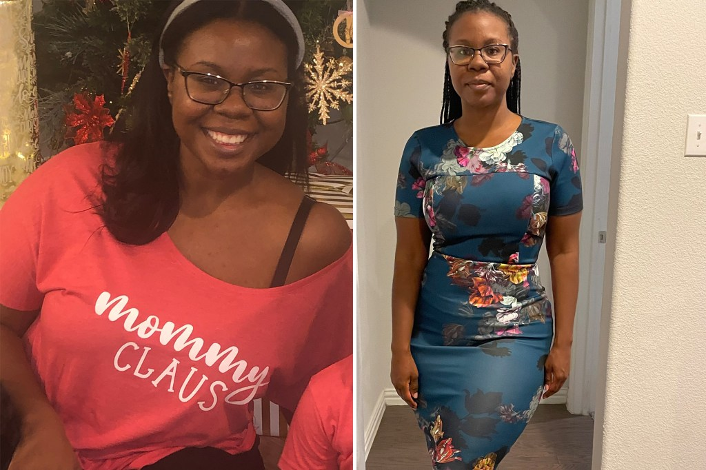 Terrilyn Brumfield before and after her weight-loss triumph.
