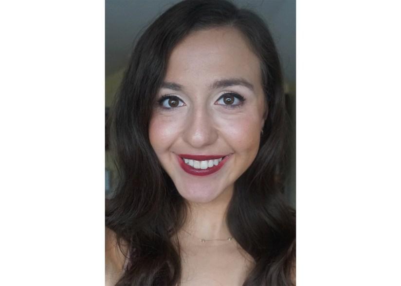 Victoria Giardina wearing Too Faced 'Trailblazer' Em-Power Lipstick.