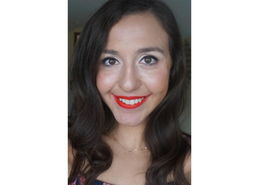 Victoria Giardina wearing Too Faced's 'You Do You' Em-Power Lipstick.