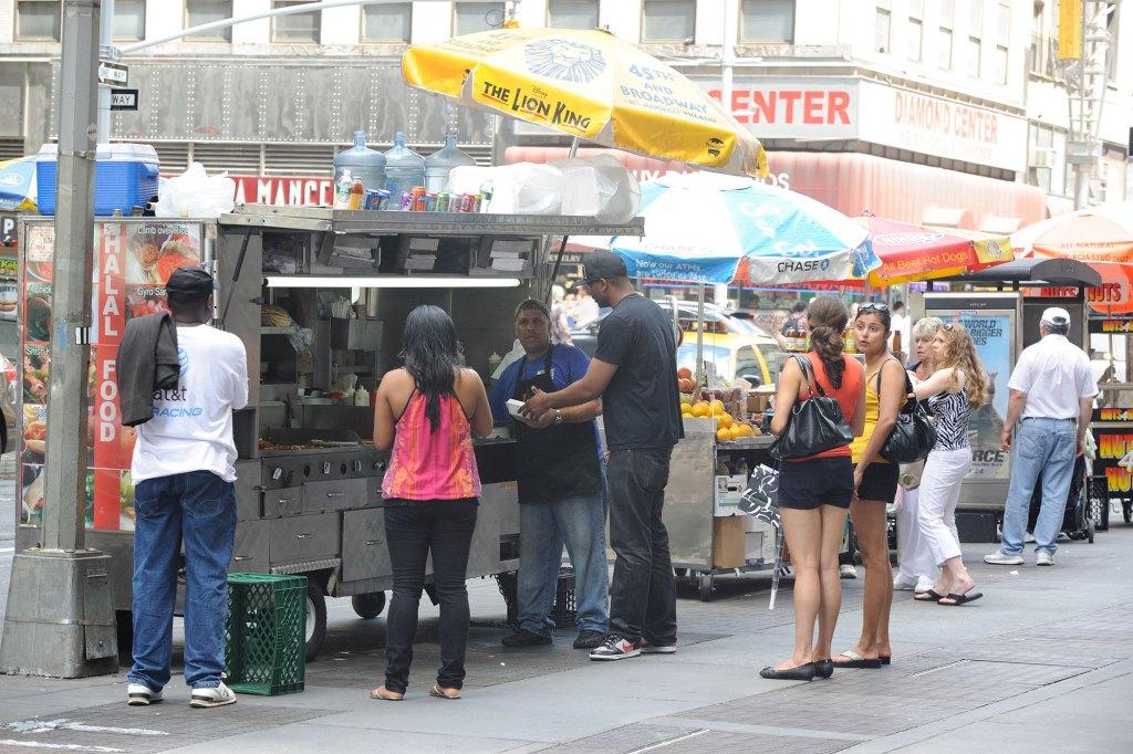 Street Vendors Times Square