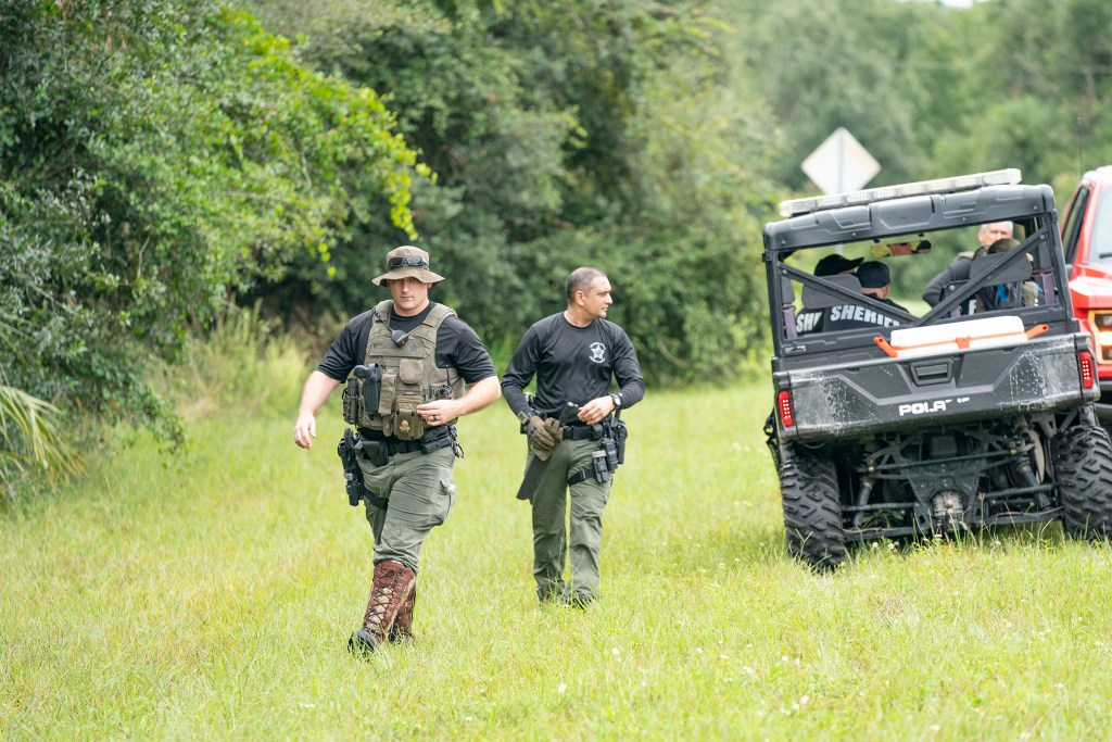 Police searching for the now missing Laundrie in North Port, Florida on September 18, 2021.