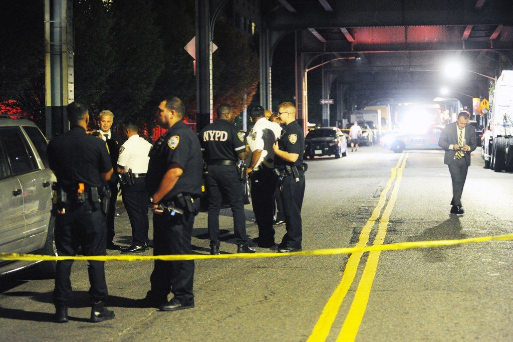 A 21-year-old was shot in the head near Livonia Avenue in Brooklyn.