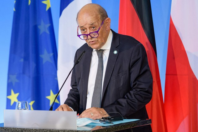 French European and Foreign Affairs Minister Jean-Yves Le Drian
