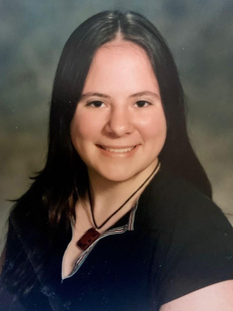 The 2001 yearbook image of Dana Nelson.