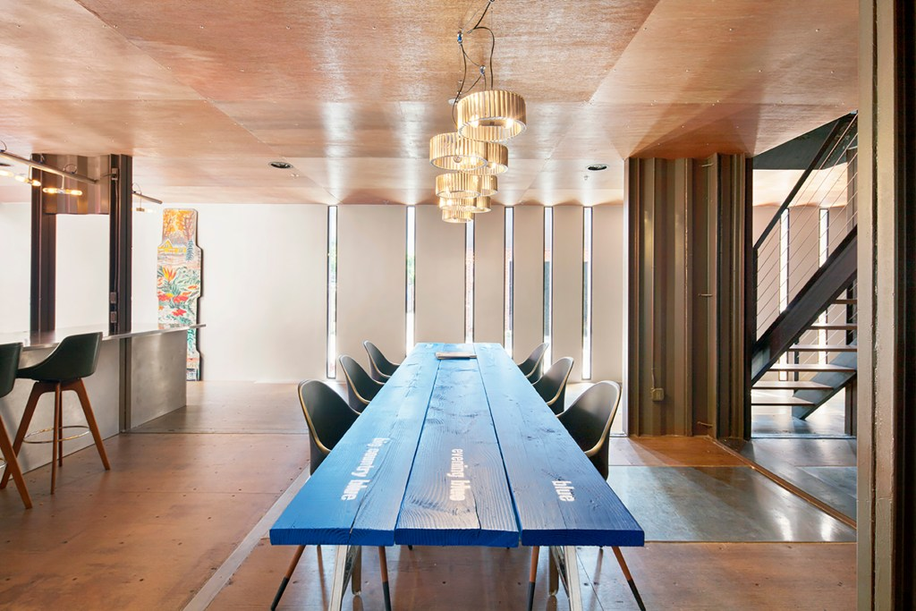 The interior of a house at 2 Monitor Street in Williamsburg, Brooklyn.