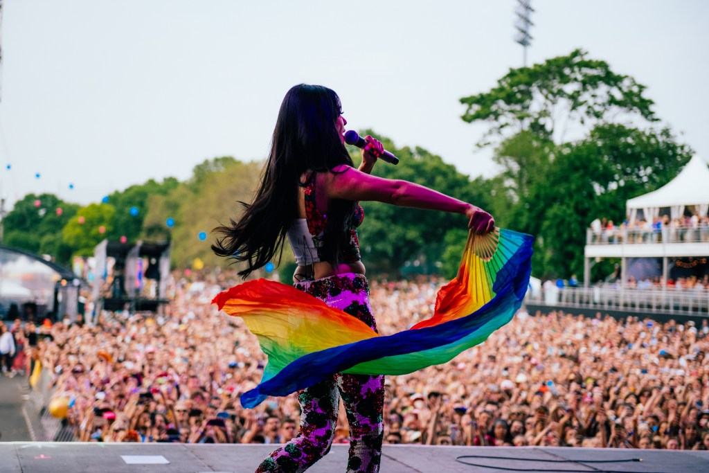 A Kacey Musgraves st from Governors Ball in 2019.