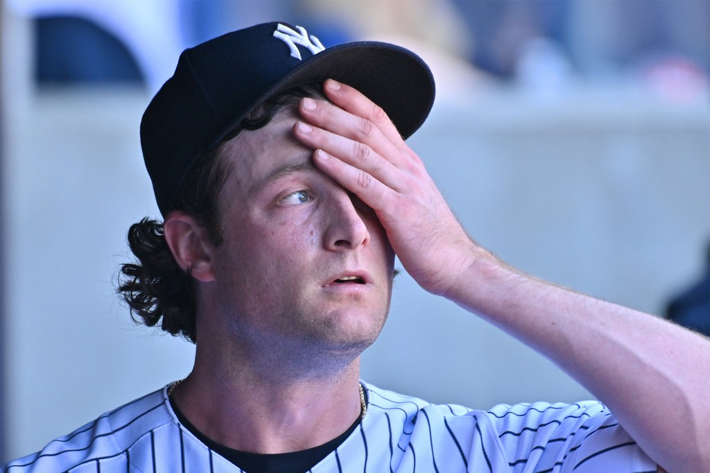It was a rough day at The Stadium for Gerrit Cole.