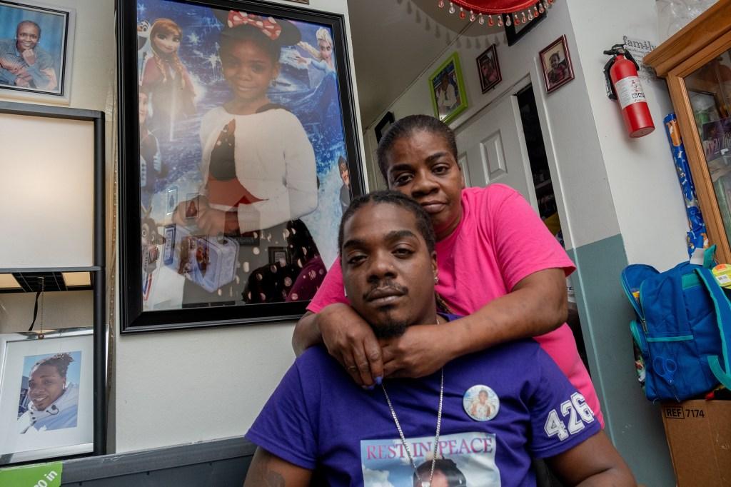 Julius Batties, father of Julissa Batties, with his mother Yolanda Davis at their Brooklyn home.