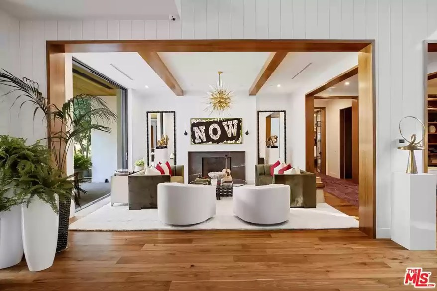 The Encino living room is pictured.