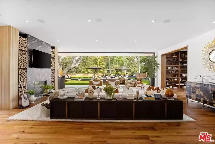 A family room in the Los Angeles house is pictured from another angle.