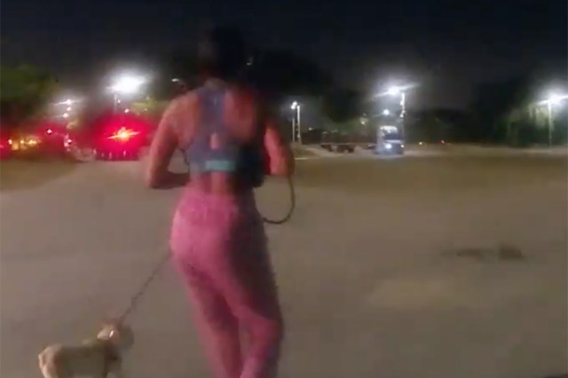 As Nikkita Brown heads toward the exit, the cop grabbed her inciting a struggle and causing Brown to scream.