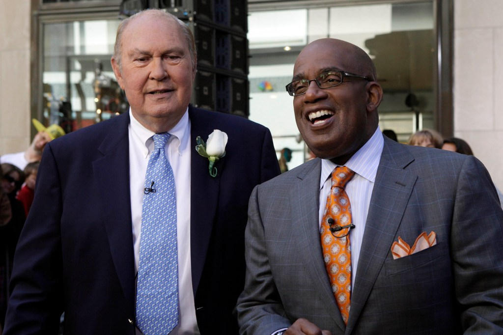 NBC's Willard Scott and Al Roker