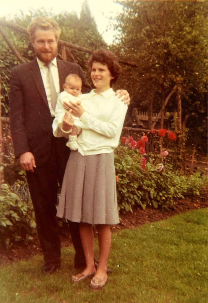 The Fitters in 1967 with their first born, Joanne.
