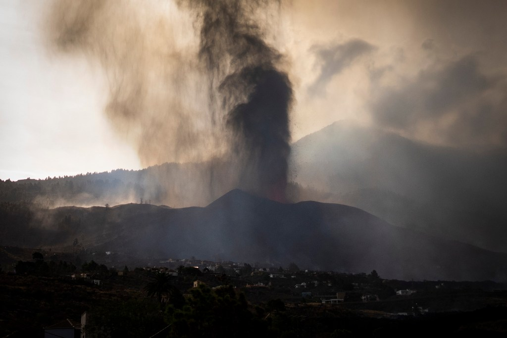 Lava from a volcano eruption flows on the island of La Palma in the Canaries, Spain, Wednesday, Sept. 22, 2021.