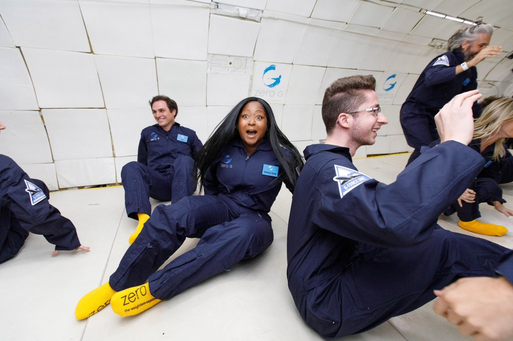 Zero-G captain, crew and coaches safely guided Grace and her fellow passengers throughout the 90-minute excursion.