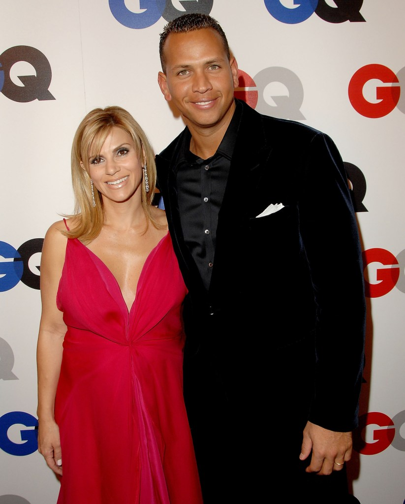 """Alex Rodriguez with then wife Cynthia Scurtis at the GQ Celebrates 2007 """"Men Of The Year"""" at the Chateau Marmont Hotel on December 5, 2007 in Hollywood, California."""