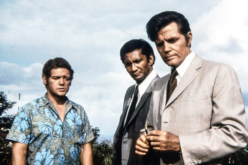 """James MacArthur, Al Harrington and Jack Lord in """"Hawaii Five-0,"""" which ran from 1968 to 1980."""