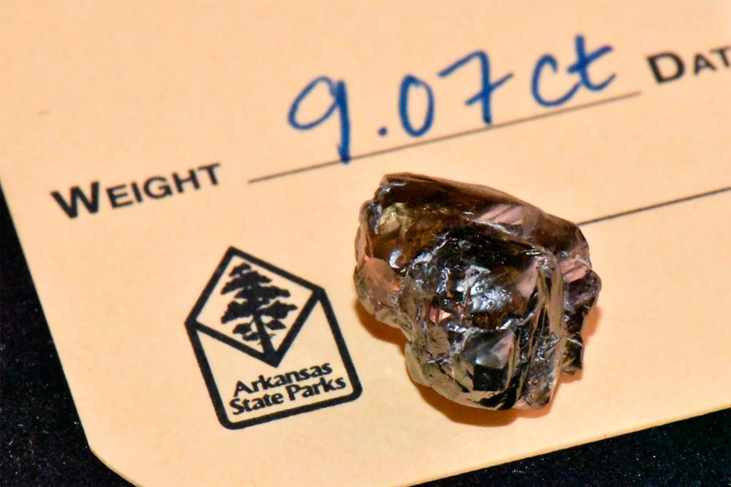 Diamond Discovery Center park staff identified the bobble as 4.38-carat yellow diamond.