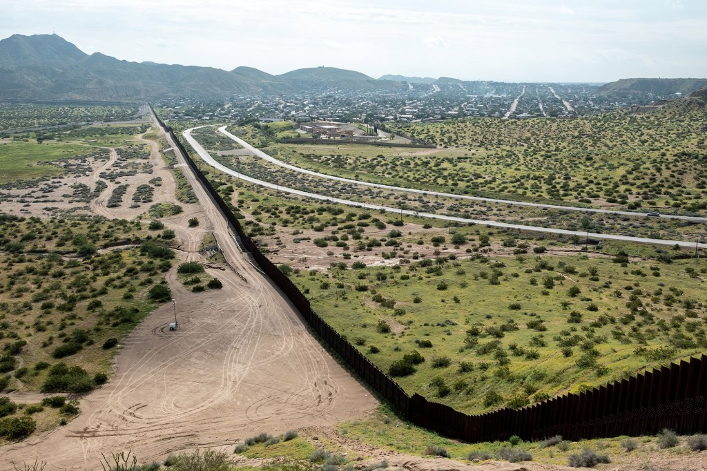 A view of the U.S.-Mexico border from Sunland Park, New Mexico, on September 1, 2021.