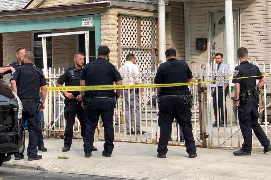 The NYPD initially responded to a call that a foul odor was coming from inside a building in the Bronx.