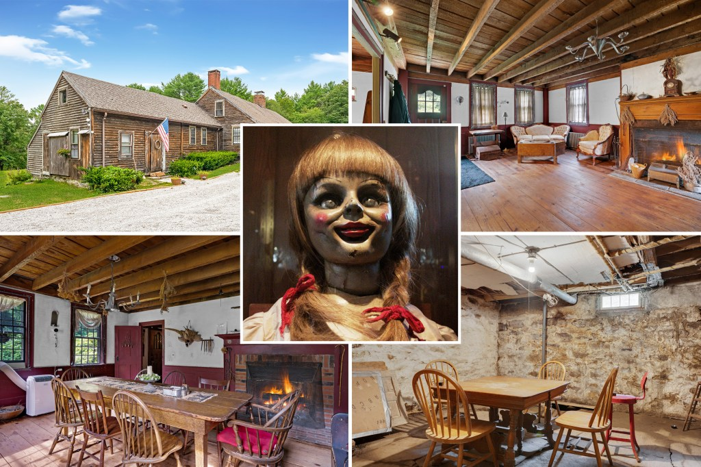 """The spooky spread that inspired """"The Conjuring"""" movies has listed for sale asking $1.2 million, giving buyers a chance to own some paranormal property."""
