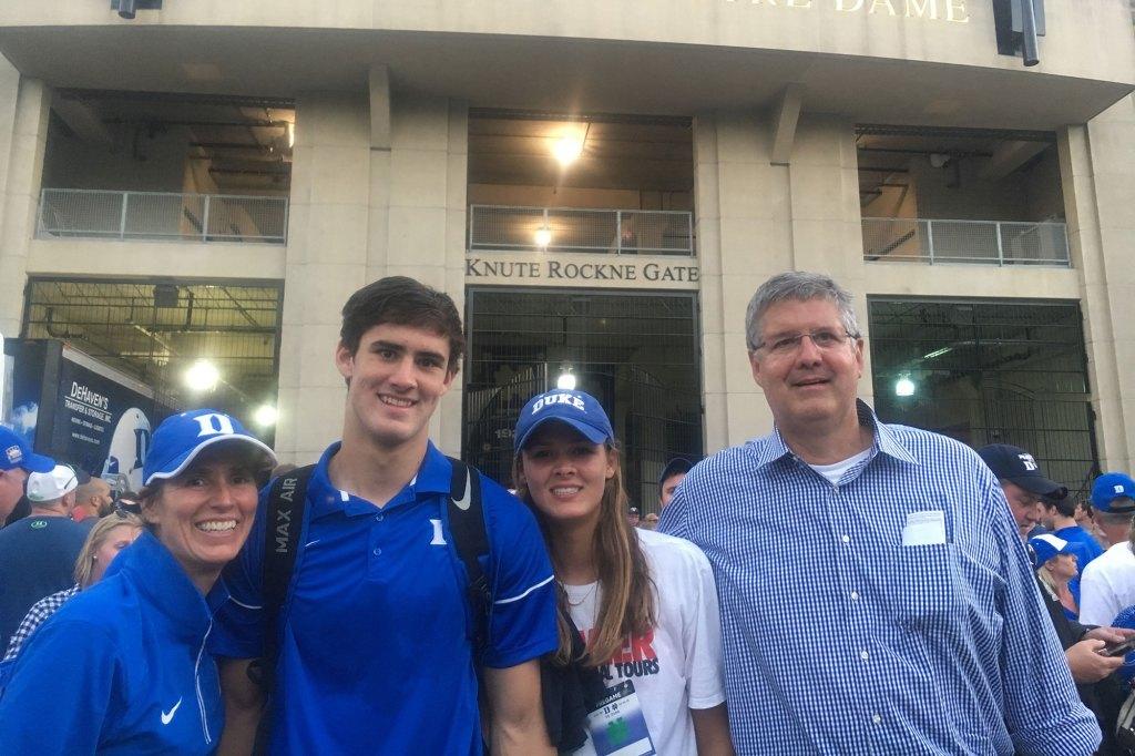 Daniel Jones, Ruthie Jones and parents, Becca and Steve