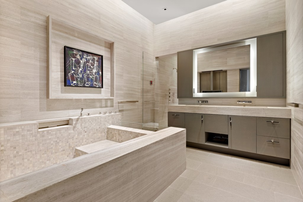 A bathroom inside the loft.