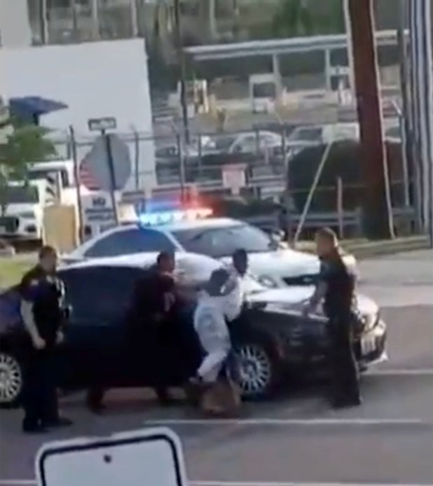 Man being arrested.
