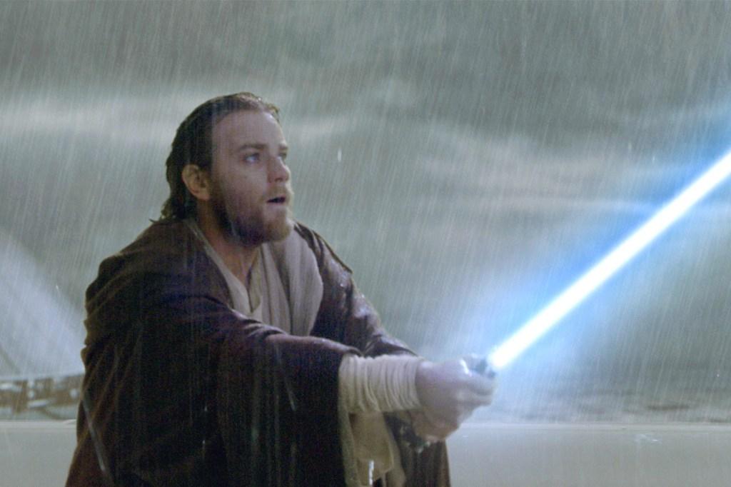 "Ewan McGregor as Obi-Wan Kenobi in ""Star Wars Episode II: Attack Of The Clones"" (2002)."