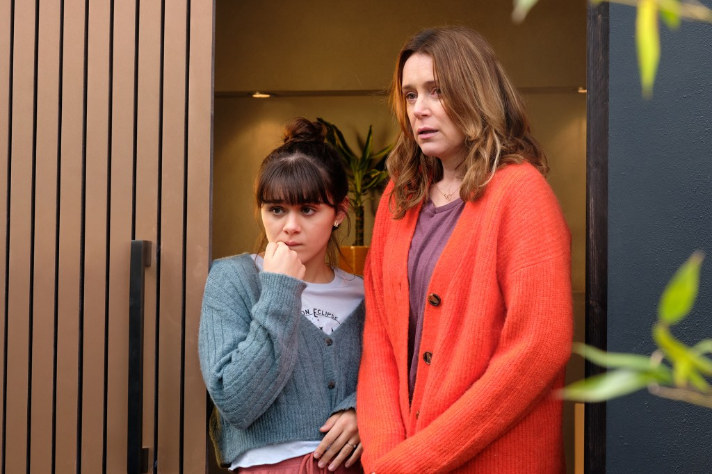 """Photo of Isabella Pappas and Keeley Hawes as Charlotte and Alice in """"Finding Alice."""""""