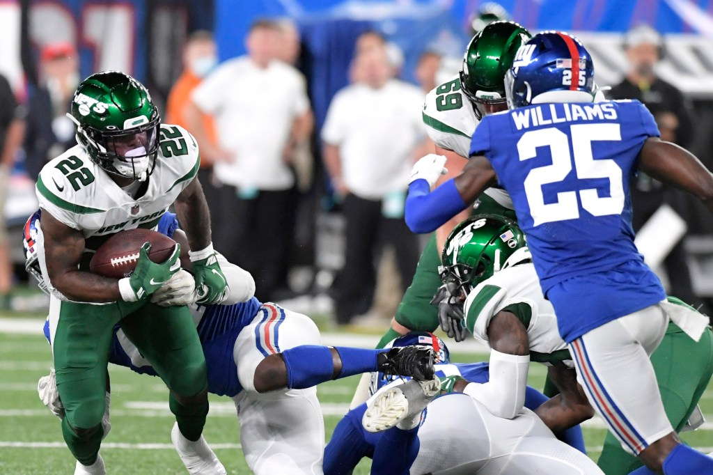 The Jets and Giants in their preseason opener on Aug. 14, 2021.