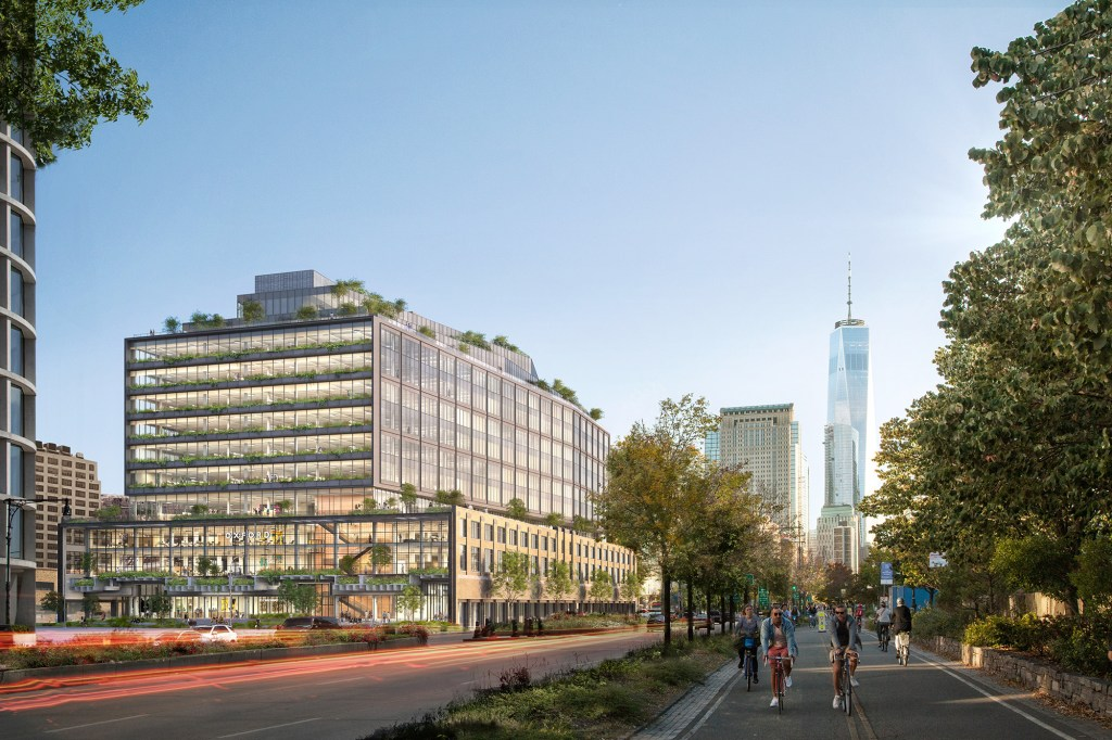 An artist's rendering of the entire new building