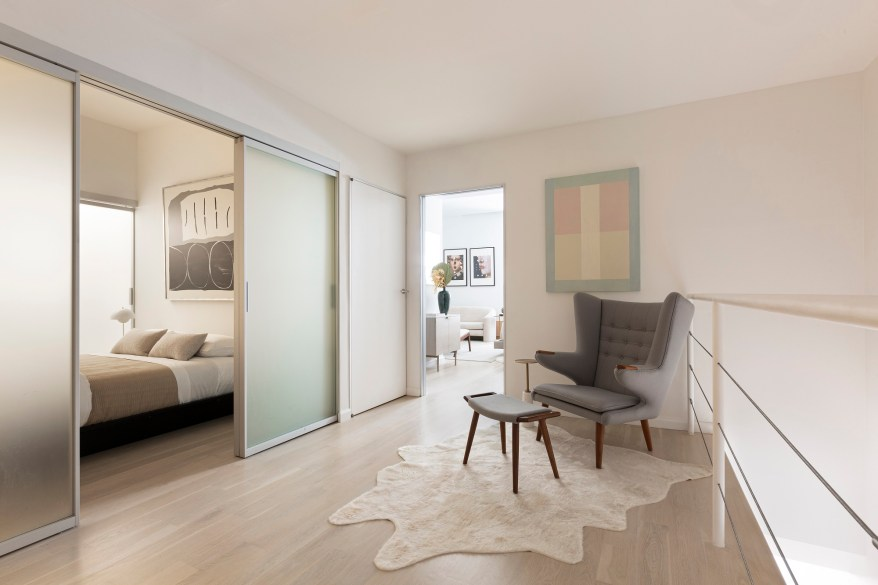 An interior of the Astor Place home.