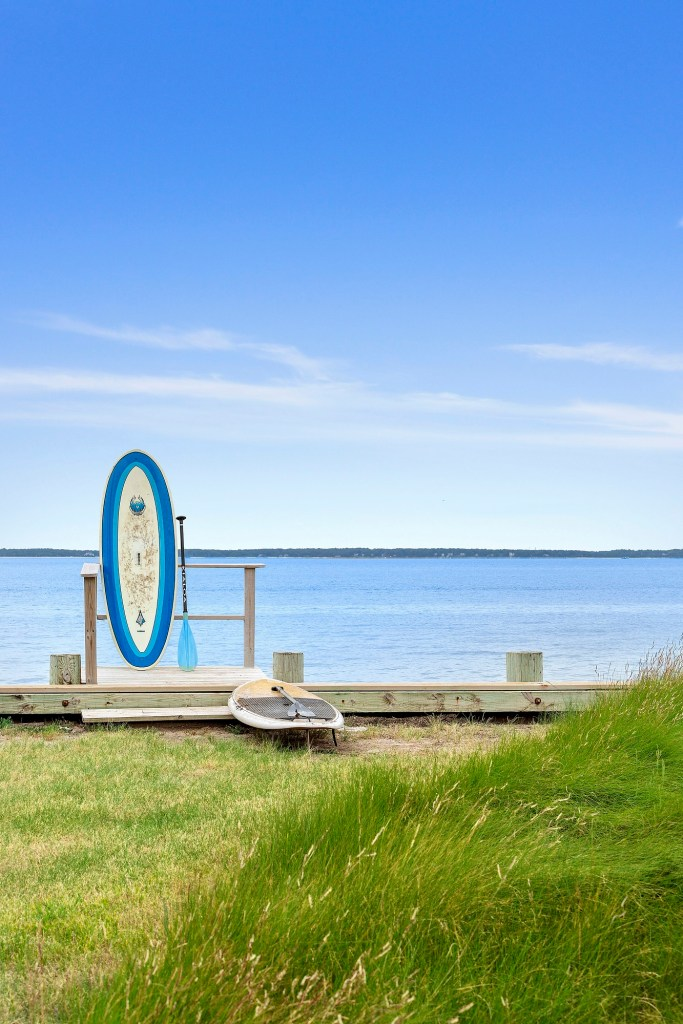 An exterior shot of a stand-up paddle board station.